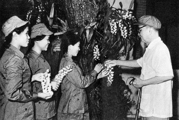 Bác Hồ tặng hoa phong lan cho ba nữ dân quân Quảng Bình, Vĩnh Linh
